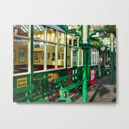 Platform at Sheringham station Metal Print
