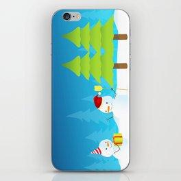 Snowball Gift Christmas iPhone Skin