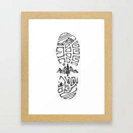 """Tread Lightly""  Hand-Drawn by Dark Mountain Arts Framed Art Print"