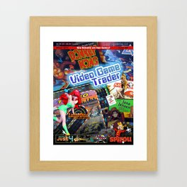 Video Game Trader #27 Cover Design Framed Art Print