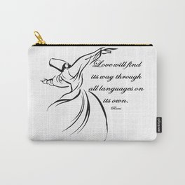 Love Will Find Its Way Through All Languages Rumi Quote Carry-All Pouch