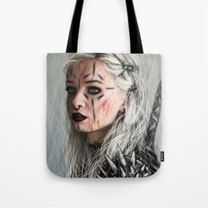 Alone but Free: Medieval Portrait of a Goth Girl Tote Bag