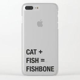 Cat + Fish Clear iPhone Case