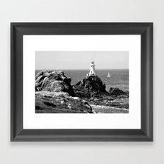 La Corbiere Lighthouse, Jersey. Framed Art Print