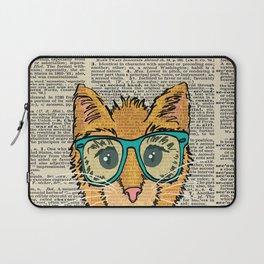 Orange Kitty Cat Laptop Sleeve