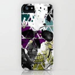 Abstract Skull iPhone Case