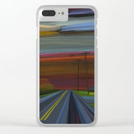 intersection of hands creek Clear iPhone Case