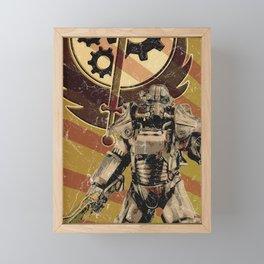 Fallout 4 - Brotherhood of Steel recruitment flyer Framed Mini Art Print
