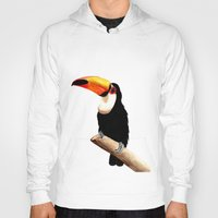 toucan Hoodies featuring Toucan by Bridget Davidson