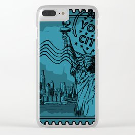 New York City Stamp Clear iPhone Case