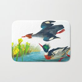 Red-breasted Merganser Bird Bath Mat