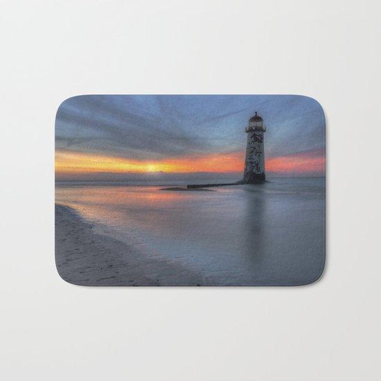 Sunset at the Lighthouse v3 Bath Mat