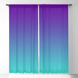 Violet Purple and Turquoise Ombre Blackout Curtain