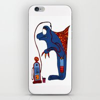 dolphin iPhone & iPod Skins featuring Dolphin by JBLITTLEMONSTERS