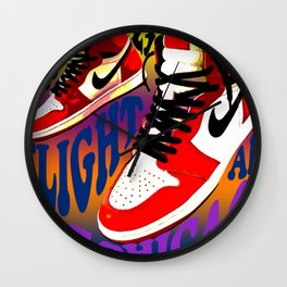 Psychedelic Sneakers Wall Clock