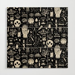 Curiosities: Bone Black Wood Wall Art
