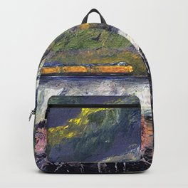 The Train Whistle Echos in Glenwood Canyon Backpack