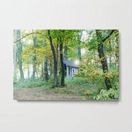 Chapel in the Autumn Woods in Llubljana Slovenia Metal Print