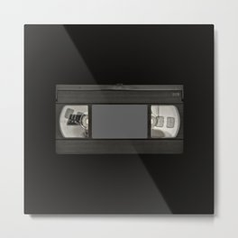Retro 80's objects - Videotape Metal Print