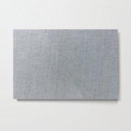 Chambray Denim Simple Fabric Texture Metal Print