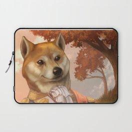 Royal Shiba Dog Portrait Laptop Sleeve