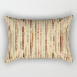 Watercolor Stripes in Burgundy, Orange, Apricot Rectangular Pillow