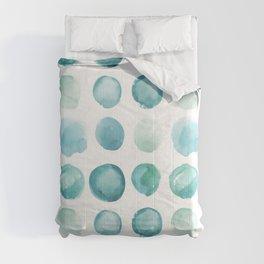 Blue Sea Glass Watercolor JUUL Comforters