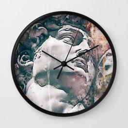 Watercolor Statue Of King David - Modern Gallery Art Wall Clock