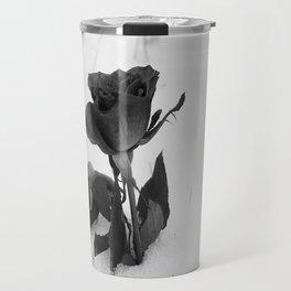 Rose in the Snow Travel Mug