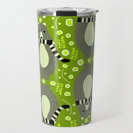 Bears and flowers in green Travel Mug