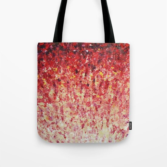 HYPNOTIC SUNRISE - Stunning Sunrise Sunset Pink Magenta Peach Crimson Bright Red Cream Tote Bag