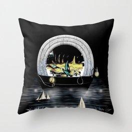 night sailing Throw Pillow