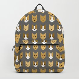 Geometric Cat Quilt // Mustard Backpack