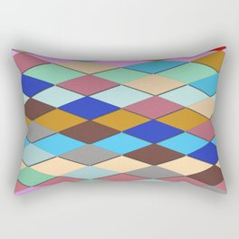 Colorful crazy squares Rectangular Pillow