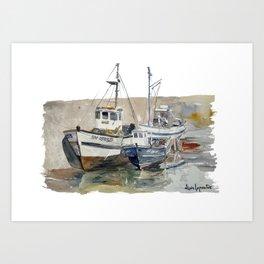 Pêche Artisanale - Le Croisic 1977 Art Print