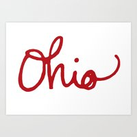 ohio Art Prints featuring Ohio by Alisha Williams