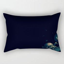 Curious Octopus Pixel Rectangular Pillow