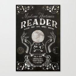 Gypsy Crystal Ball Reader Sign Canvas Print