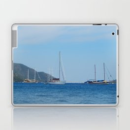 Yachting marina of Marmaris in Turkey resort town on the Aegean Sea Laptop & iPad Skin