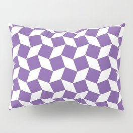 Purple Op Art Pattern Pillow Sham
