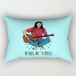 Folk You Guitar Hippie Rectangular Pillow