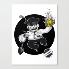 Graduate congratulations card Canvas Print