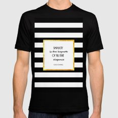 Simplicity Mens Fitted Tee Black SMALL