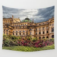 theatre Wall Tapestries featuring Slowacki Theatre in Cracow by jbjart