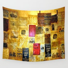 Original 1800s Flyers - Pick the Flyer with a spelling Mistake? Wall Tapestry