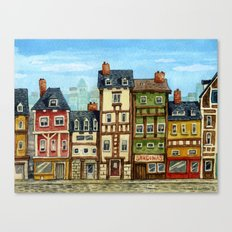 Little Village Canvas Print