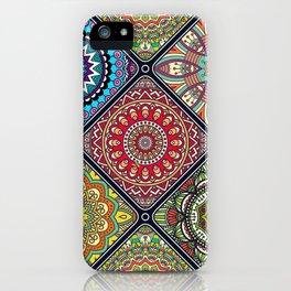 Tiled Boho Mandelas 1 iPhone Case