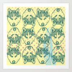 Wolf Print Art Print