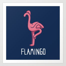 A Flamingo (That is Definitely not an Octopus) Art Print