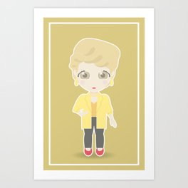 Girls in their Golden Years - Blanche Art Print
